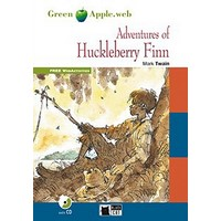 Black Cat Green Apple Readers 2 Adventures of Huckleberry Finn New Edition Book + CD