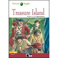 Black Cat Green Apple Readers 2 Treasure Island Book + CD