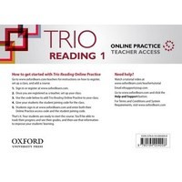 Trio Reading Level 1 Online Teachers Access Card Pack