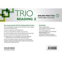 Trio Reading Level 2 Online Teachers Access Card Pack