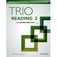 Trio Reading Level 2 Student Book with Online Practice