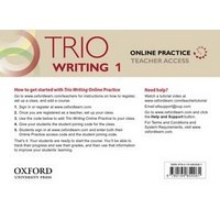 Trio Writing 1 Online Practice Teacher Access Card