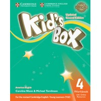 Kid's Box Ame (Updated 2/E) 4 Workbook with Online Resources