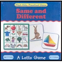 Flash Kids Preschool Skills Games Same & Different Lotto