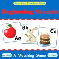 Flash Kids Preschool Skills Games Beginning Sounds Memory Match