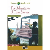Black Cat Green Apple Readers 1 The Adventures of Tom Sawyer Book + CD