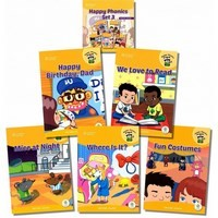 Happy Phonics Set 3 (5 Books with MP3 Audio)