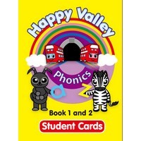Happy Valley Phonics Student Cards 1 and 2 Cards